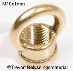 Ringnippel råmässing M10x1mm